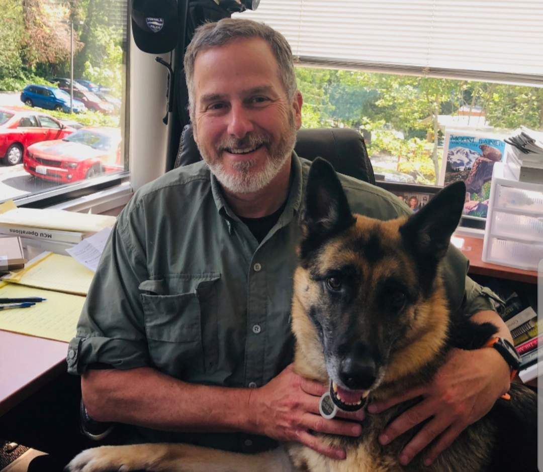 Tukwila Det. Sgt. Mike Murphy and his 7 year old German Shepherd, Tilly.